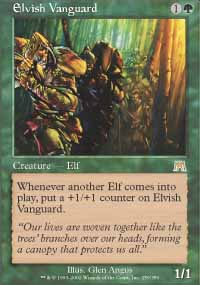 Magic the Gathering Onslaught Single Elvish Vanguard UNPLAYED (NM/MT)