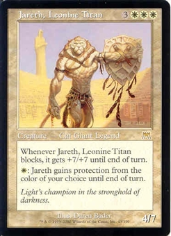 Magic the Gathering Onslaught Single Jareth, Leonine Titan - SLIGHT PLAY (SP)