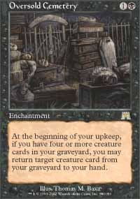 Magic the Gathering Onslaught Single Oversold Cemetery UNPLAYED (NM/MT)