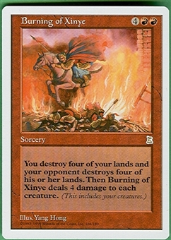 Magic the Gathering Portal 3: 3 Kingdoms Single Burning of Xinye - NEAR MINT (NM)