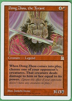 Magic the Gathering Portal 3: 3 Kingdoms Single Dong Zhou, the Tyrant UNPLAYED (NM/MT)