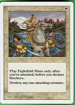 Magic the Gathering Portal 3: 3 Kingdoms Single Eightfold Maze - NEAR MINT (NM)