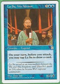 Magic the Gathering Portal 3: 3 Kingdoms Single Lu Su, Wu Advisor - NEAR MINT (NM)