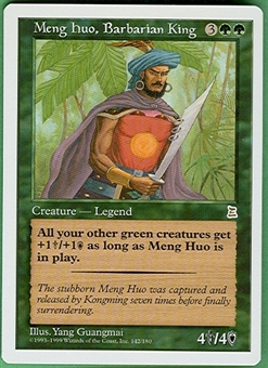 Magic the Gathering Portal 3: 3 Kingdoms Single Meng Huo, Barbarian King UNPLAYED (NM/MT)