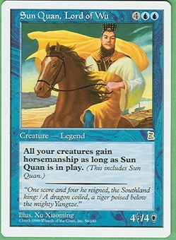 Magic the Gathering Portal 3: 3 Kingdoms Single Sun Quan, Lord of Wu - NEAR MINT (NM)