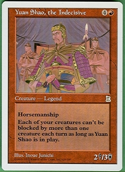 Magic the Gathering Portal 3: 3 Kingdoms Single Yuan Shao, the Indecisive - NEAR MINT (NM)