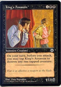 Magic the Gathering Portal 1 Single King's Assassin - MODERATE PLAY (MP)
