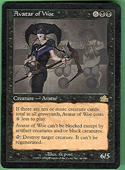 Magic the Gathering Prophecy Single Avatar of Woe - SLIGHT PLAY (SP)