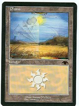 Magic the Gathering Promo Single GURU Plains UNPLAYED (NM/MT)
