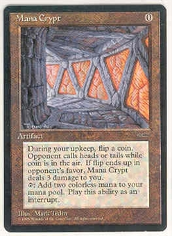 Magic the Gathering Promo Single Mana Crypt LIGHT PLAY (NM)