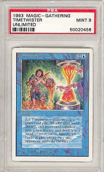 Magic the Gathering Unlimited Single Timetwister PSA 9