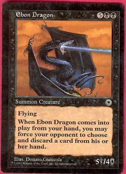Magic the Gathering Portal 1 Single Ebon Dragon LIGHT PLAY (NM)