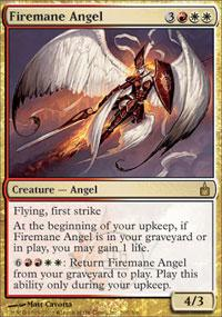 Magic the Gathering Ravnica Single Firemane Angel - NEAR MINT (NM)
