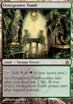 Magic the Gathering Ravnica Single Overgrown Tomb - MODERATE PLAY (MP)
