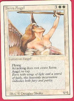 Magic the Gathering 3rd Ed (Revised) Single Serra Angel - MODERATE PLAY (MP)