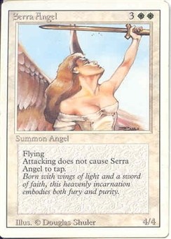 Magic the Gathering 3rd Ed (Revised) Single Serra Angel - SLIGHT PLAY (SP)