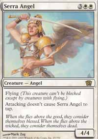 Magic the Gathering 8th Edition Single Serra Angel LIGHT PLAY (NM)