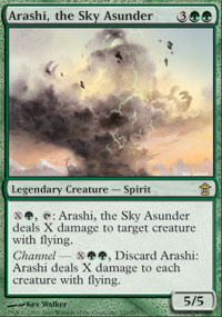 Magic the Gathering Saviors of Kami Single Arashi, the Sky Asunder UNPLAYED (NM/MT)