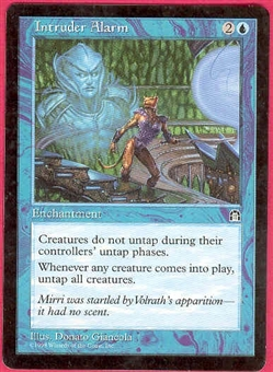 Magic the Gathering Stronghold Single Intruder Alarm - SLIGHT PLAY (SP)