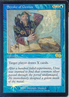 Magic the Gathering Urza's Saga Single Stroke of Genius Foil (Judge)