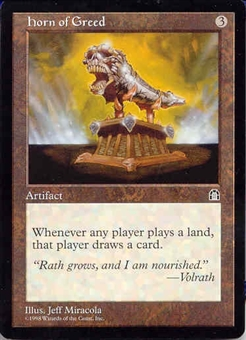 Magic the Gathering Stronghold Single Horn of Greed UNPLAYED (NM/MT)