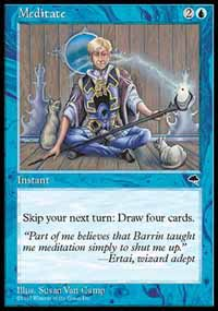 Magic the Gathering Tempest Single Meditate - NEAR MINT (NM)