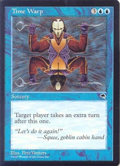 Magic the Gathering Tempest Single Time Warp UNPLAYED (NM/MT)
