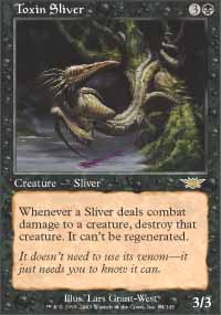Magic the Gathering Legions Single Toxin Sliver UNPLAYED (NM/MT)