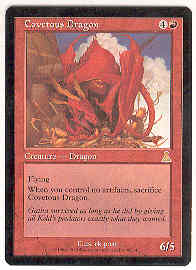 Magic the Gathering Urza's Destiny Single Covetous Dragon - SLIGHT PLAY (SP)