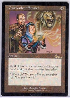 Magic the Gathering Urza's Legacy Single Quicksilver Amulet - SLIGHT PLAY (SP)