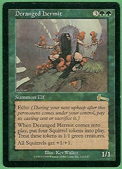 Magic the Gathering Urza's Legacy Single Deranged Hermit - SLIGHT PLAY (SP)
