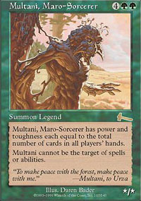Magic the Gathering Urza's Legacy Single Multani, Maro-Sorcerer - NEAR MINT (NM)
