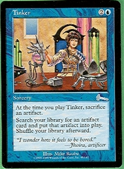 Magic the Gathering Urza's Legacy Single Tinker UNPLAYED (NM/MT)