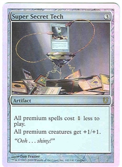 Magic the Gathering Unhinged Single Super Secret Tech Foil