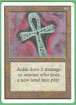 Magic the Gathering Unlimited Single Ankh of Mishra - NEAR MINT (NM)