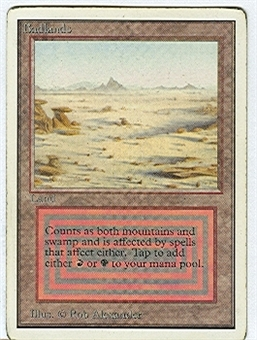 Magic the Gathering Unlimited Single Badlands - MODERATE PLAY (MP)