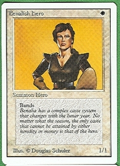 Magic the Gathering Unlimited Single Benalish Hero - NEAR MINT (NM)