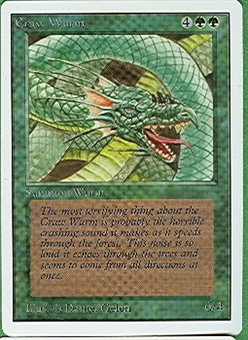 Magic the Gathering Unlimited Single Craw Wurm UNPLAYED (NM/MT)