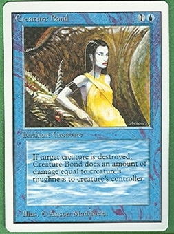 Magic the Gathering Unlimited Single Creature Bond - NEAR MINT (NM)