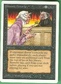 Magic the Gathering Unlimited Single Demonic Attorney - NEAR MINT (NM)