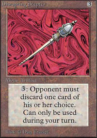 Magic the Gathering Unlimited Single Disrupting Scepter - NEAR MINT (NM)