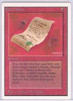 Magic the Gathering Unlimited Single False Orders - SLIGHT PLAY (SP)
