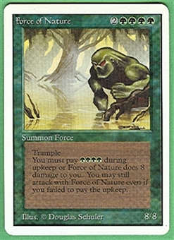 Magic the Gathering Unlimited Single Force of Nature UNPLAYED (NM/MT)