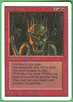 Magic the Gathering Unlimited Single Goblin King - NEAR MINT (NM)