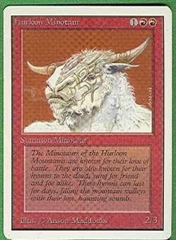 Magic the Gathering Unlimited Singles 4x Hurloon Minotaur UNPLAYED (NM/MT)
