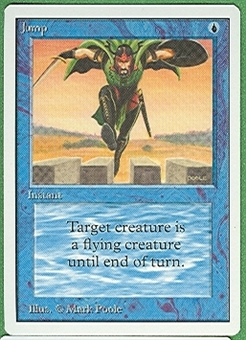 Magic the Gathering Unlimited Singles 4x Jump UNPLAYED (NM/MT)