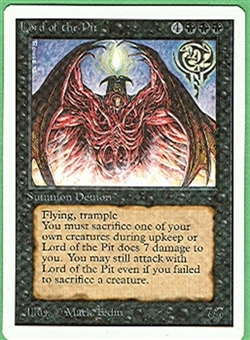 Magic the Gathering Unlimited Single Lord of the Pit - NEAR MINT (NM)
