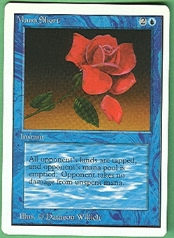 Magic the Gathering Unlimited Single Mana Short - MODERATE PLAY (MP)