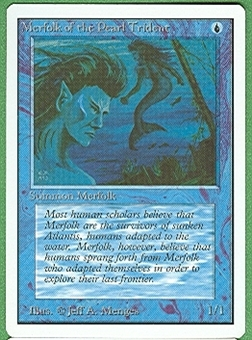 Magic the Gathering Unlimited Singles 4x Merfolk of the Pearl Trident UNPLAYED (NM/MT)