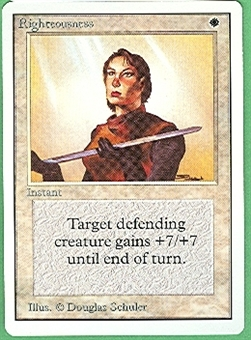 Magic the Gathering Unlimited Single Righteousness - NEAR MINT (NM)